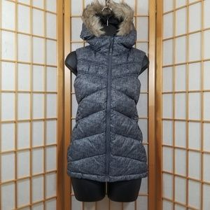 Mondetta Fur-Lined Hooded Down Puffer Vest